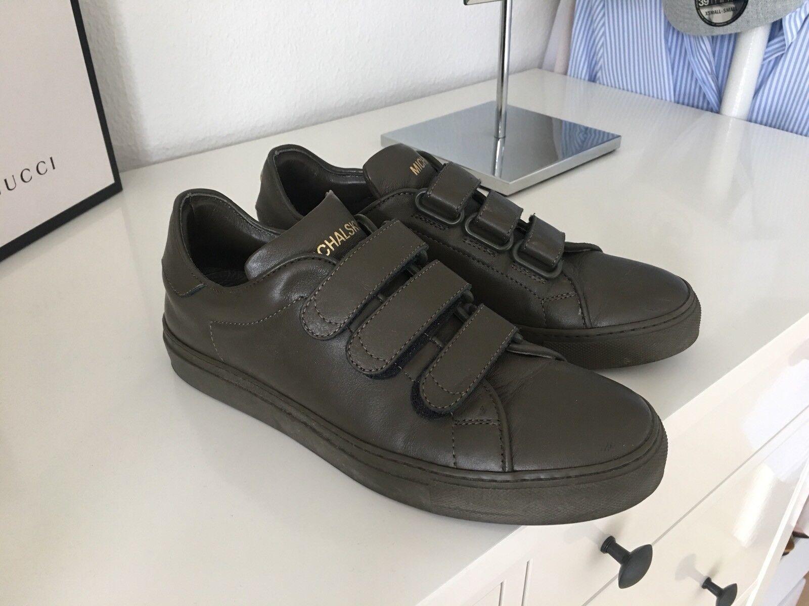 Michalsky Wie Sneaker Schuhe Leder Glattleder 38 Dunkelgrün Grün Wie Michalsky neu Schnalle a464fe