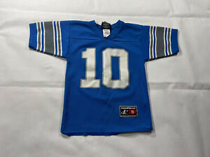 Details about Vintage 90s Logo 7 Detriot Lions Charlie Batch Jersey #10 Youth Small NFL Blue