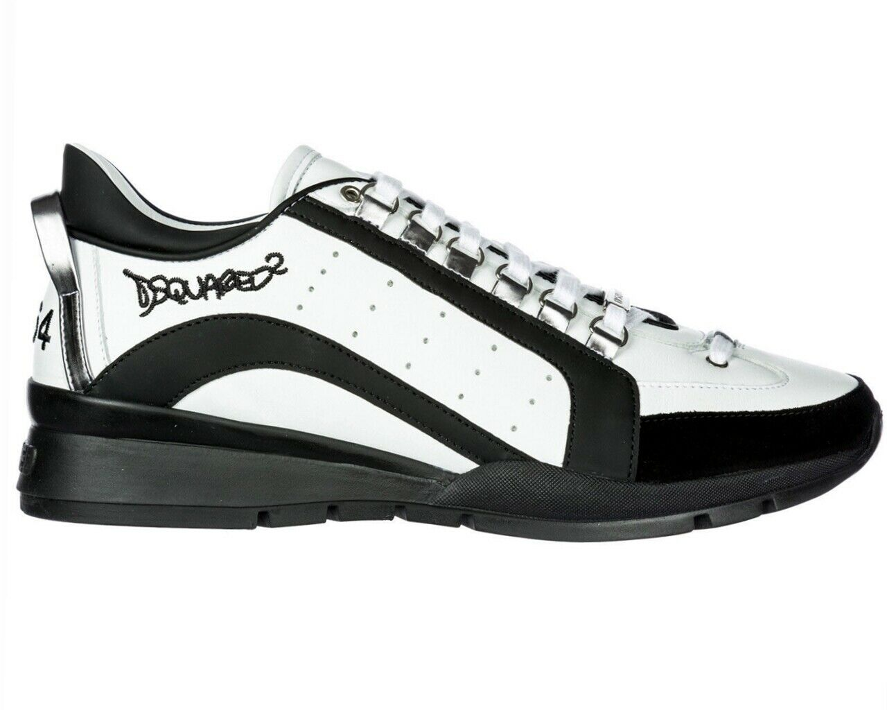 8b69886bc0a Dsquared2 551 shoes da Ginnastica Snm0404 M072 pelle men Dsquared Bianche