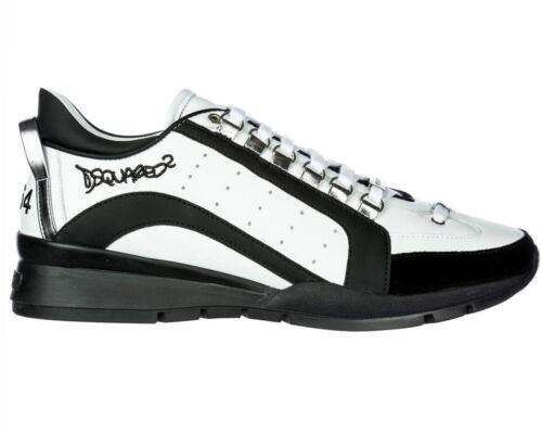 Dsquared Sneakers Dsquared2 formateurs Hommes 551 Blanc Chaussures Snm0404 M072 en cuir 0qFg5q