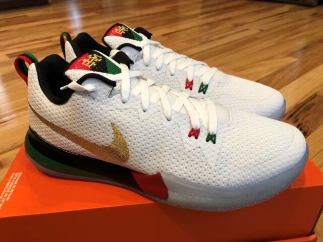 new york 513cb d1144 NIKE ZOOM LIVE II BHM PROMO WHITE GREEN BLACK GOLD RED AQ9580 100 SIZE 11.5  RARE