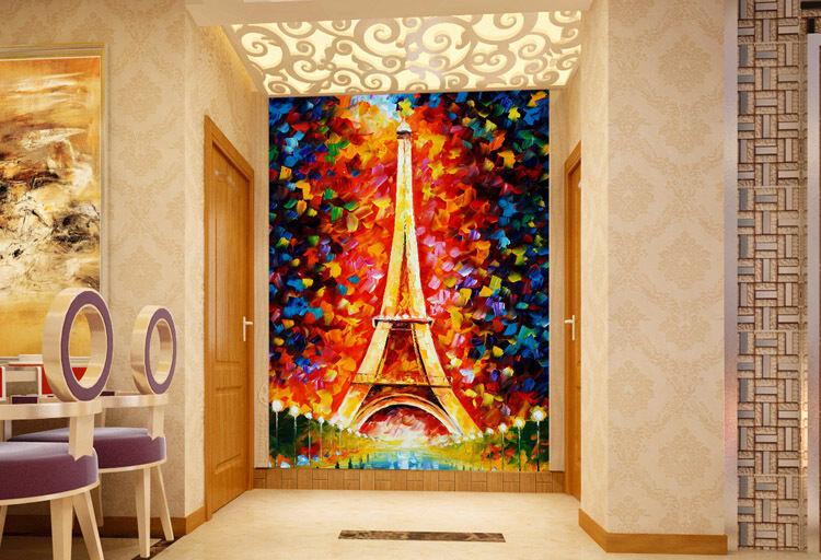 3D Eiffel tower 855 WallPaper Murals Wall Print Decal Wall Deco AJ WALLPAPER