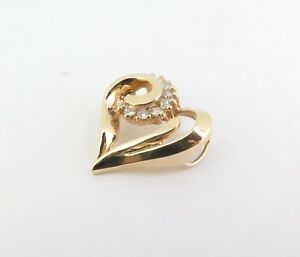 Stylised-14ct-Yellow-Gold-0-40ct-Diamond-Set-Heart-Pendant-with-Val-2140