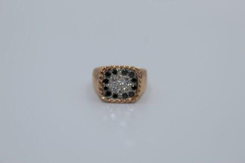 Men's Fashion Diamond Ring On 18K Rose Gold, Ring