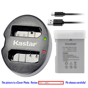 Kastar-Battery-Dual-Charger-for-Nikon-EN-EL14A-MH-24-amp-Nikon-D3200-DSLR-Camera