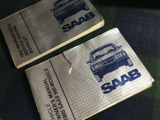 Saab C900 1985 Owner U0026 39 S Manual