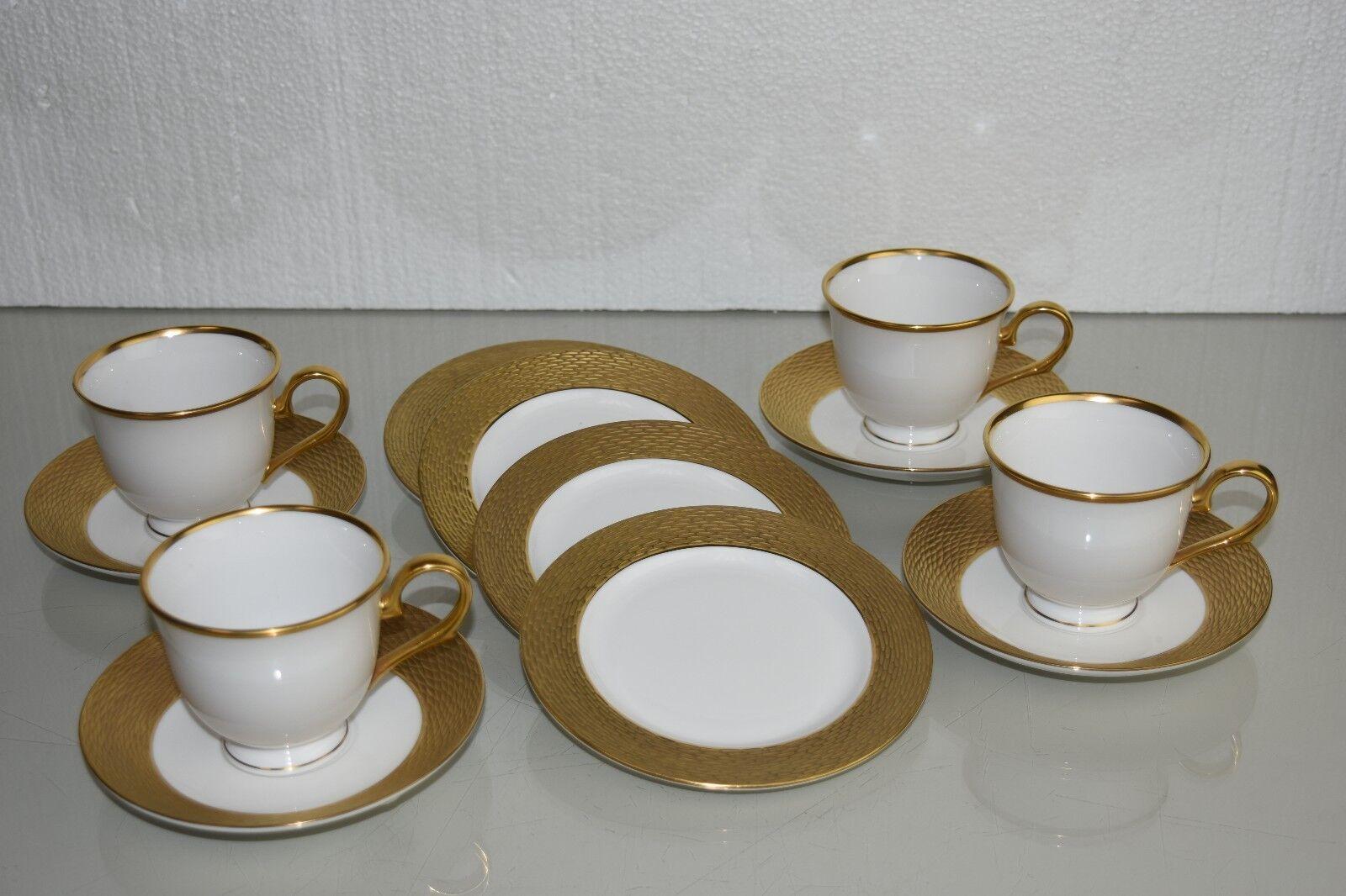 Neu 12 St.Set Fo 4 Lenox Marchesa Mandarin 24K Gold Untertasse Tasse Teller | Verschiedene