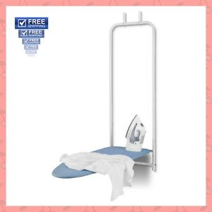 Ironing-Board-Over-The-Door-Mount-Hanging-Hide-Away-Folding-Space-Saver-Laundry