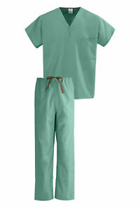 Medline PerforMAX Unisex Royal Blue One-Pocket Reversible Top scrub set