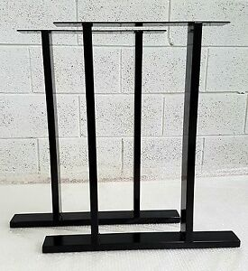 2x-Table-Bench-legs-Designer-Metal-Steel-Industrial-034-The-Epping-Leg-034-UK-Made