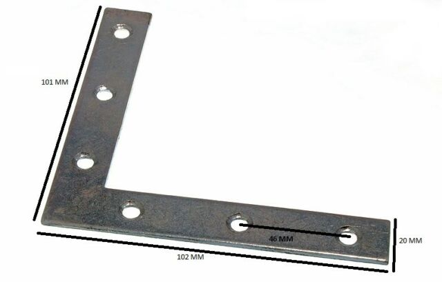 NEW FLAT MENDING REPAIR PLATE 50MM X 13.5MM X 2MM WITH 4.5MM HOLE BZP Pack of 20