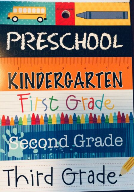 "Third 3rd Grade First Day of School Art Recess Cardstock Stickers 5x12"" Sheet"