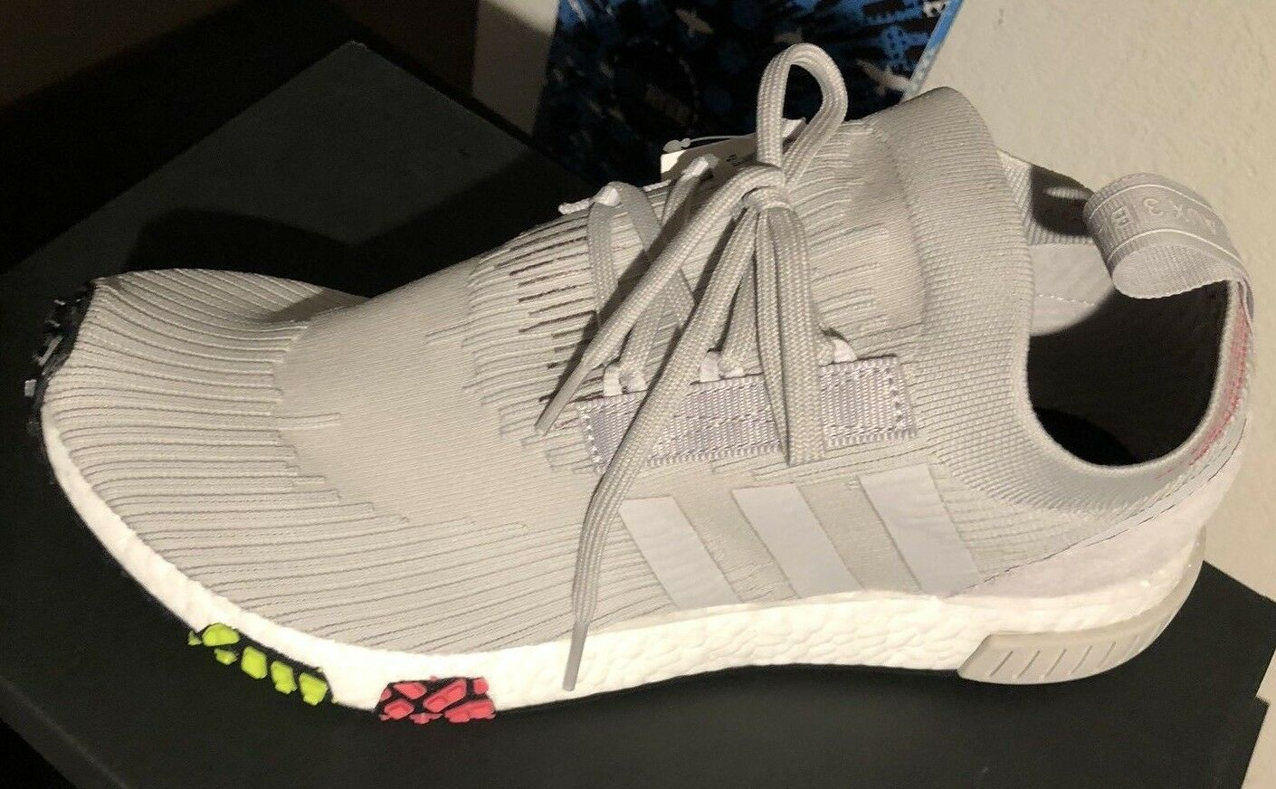 Adidas NMD Racer PK Primeknit Off White Boost Size 9.5  180