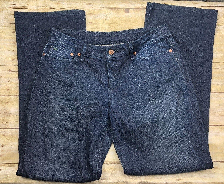 Preowned Joe's Provocateur Jeans in Naomi Wash sz 31 dark denim straight flare