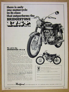1969-Bridgestone-175-Dual-Twin-amp-175-SR-Racer-motorcycles-vintage-print-Ad