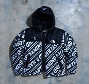 8e541286a7 Mastermind x The North Face Nuptse Puffer Jacket Black White TNF US ...