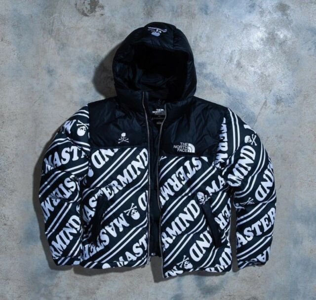 a91277f158 Mastermind x The North Face Nuptse Puffer Jacket Black White TNF US UK M