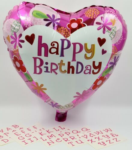 """5 x 18/"""" Personalised Name Happy Birthday Foil Helium Party Balloon job lot"""