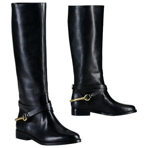 consegna lampo Ralph Ralph Ralph Lauren Jenny Leather Tall Riding stivali POLO nero 7.5B donna NEW  risparmia il 35% - 70% di sconto