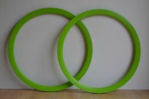 Pair-of-700c-Green-Deep-Section-Alloy-Fixie-Rims-32-Holes