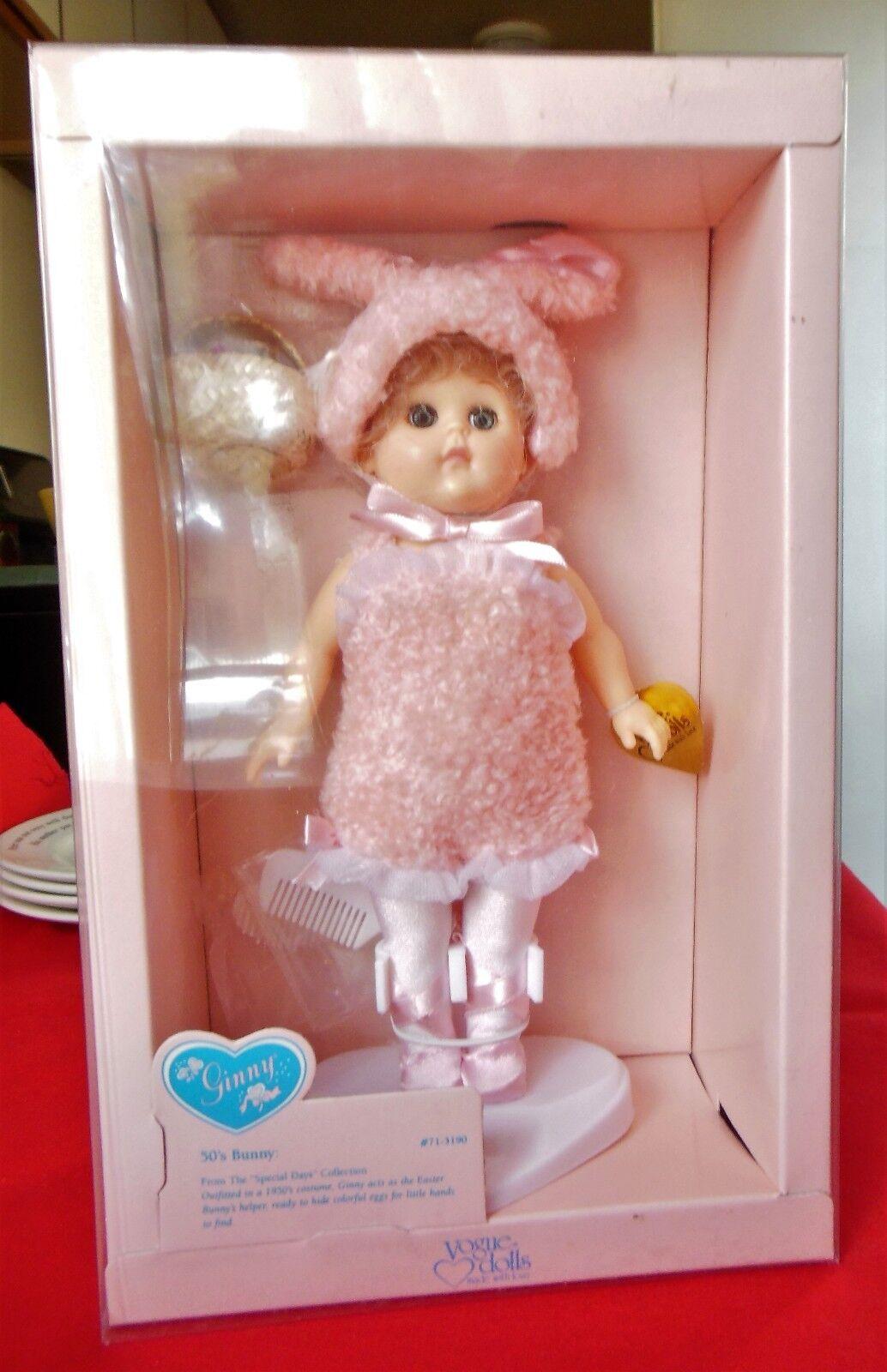 1991 Vogue Ginny Muñeca 8 Pulgadas  años 50 Bunny   MIB de cesta orejas de conejo