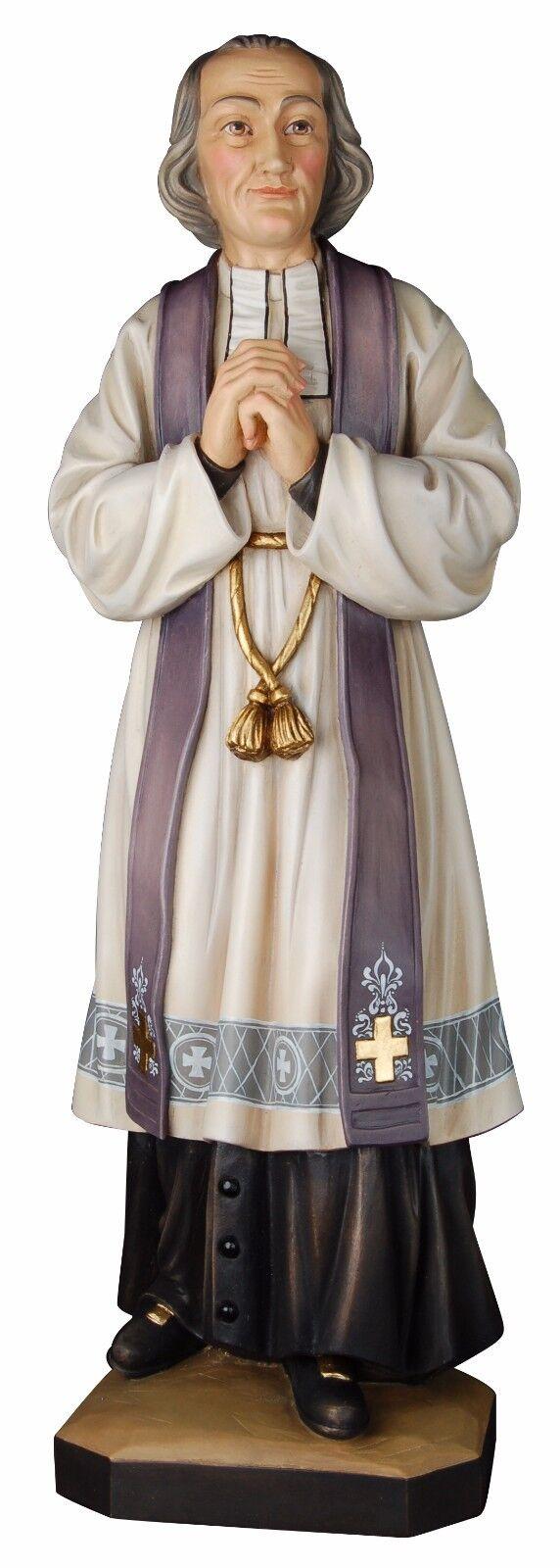 Statue Heiliger Bearbeitete D'Ars . St.Jean-Marie Baptiste Vienney Wooden
