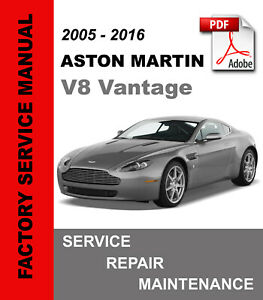 Aston Martin V8 Vantage 2005-2016 Service Repair Workshop Manual Wiring