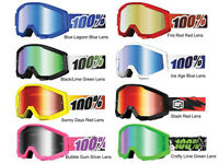 100% Strata Goggles Mx Off-road Multiple Colors Black,yellow,blue,red,green,pink