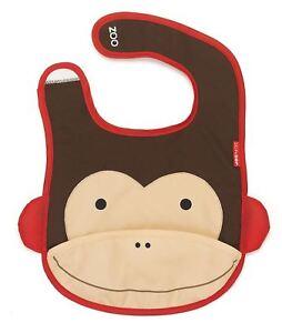 Skip Hop Zoo Tuckaway Bibs - Monkey Baby Feeding Weaning Dribble Bibs Bn Acheter Un En Obtenir Un Gratuitement