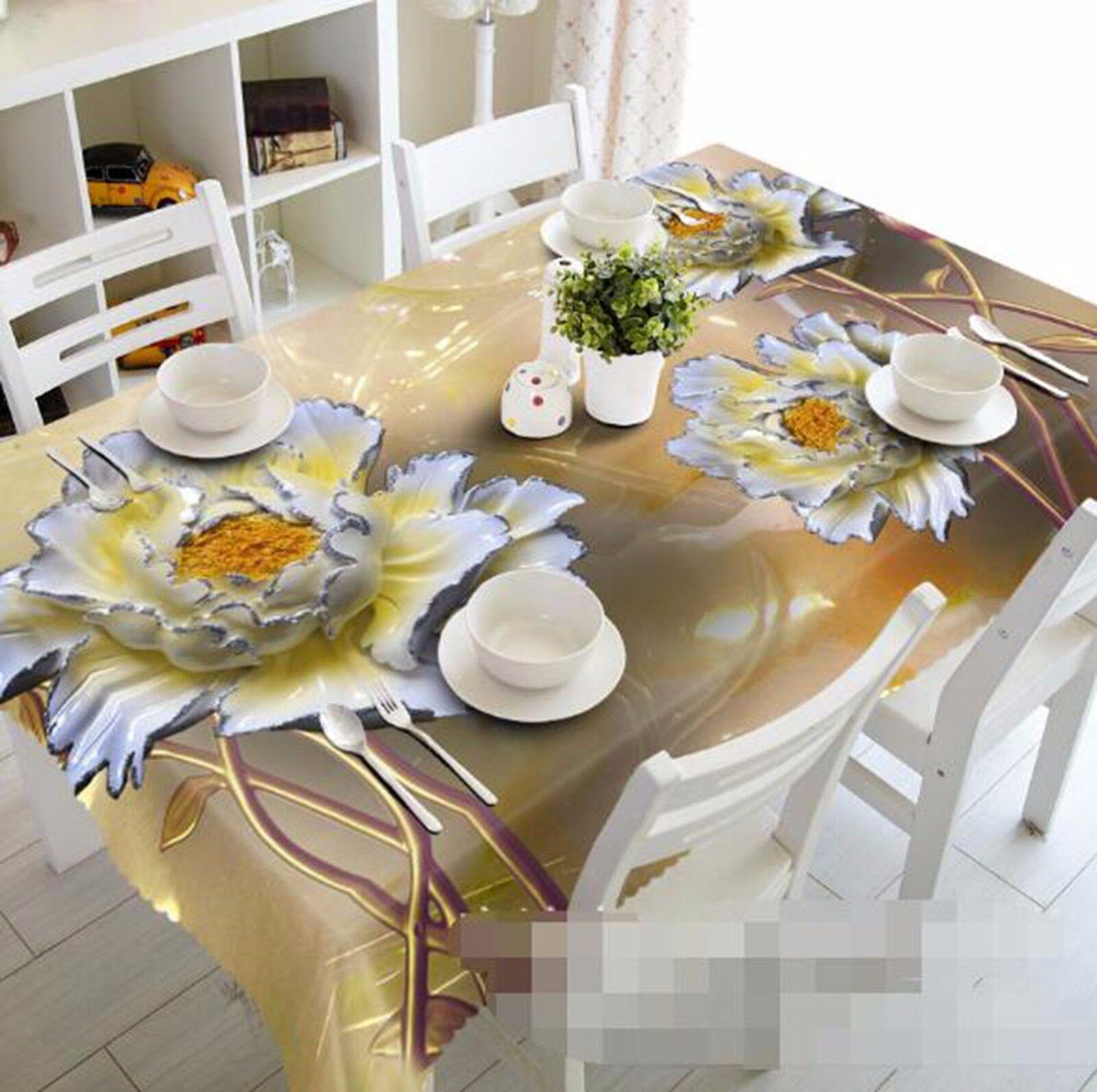 3D Petals 466 Tablecloth Table Cover Cloth Birthday Party AJ WALLPAPER UK Lemon