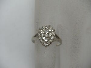 14K-White-Gold-Diamond-Cocktail-Ring-475-TCW-Tiered-Cluster-Size-5-25