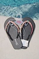 Justice Girls Flip Flops Size Xxs 12 Multi Color