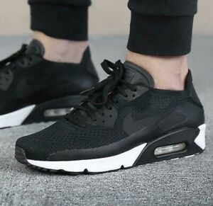 f534809ec1 Nike Air Max 90 Ultra 2.0 Flyknit Black White Mens Shoes 875943-004 ...