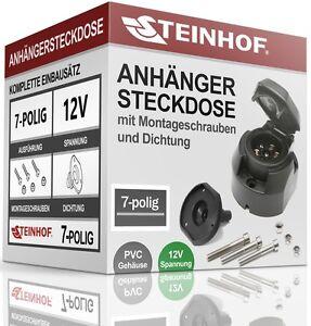 ANHANGERSTECKDOSE-AHK-STECKDOSE-7-polig-DICHTUNG-SCHRAUBEN-NEU-12V-QUALITAT