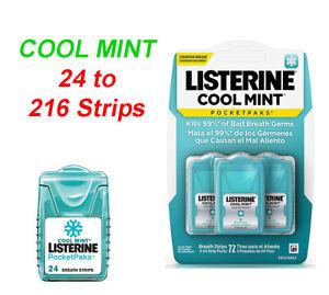 Listerine Pocketpaks Oral Care Breath Strips Cool Mint Variation 24 216 Uk Ebay