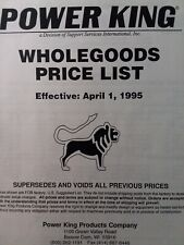 Power King Economy Jim Dandy Tractor Price List All Serial Amp Belt Chart Manual