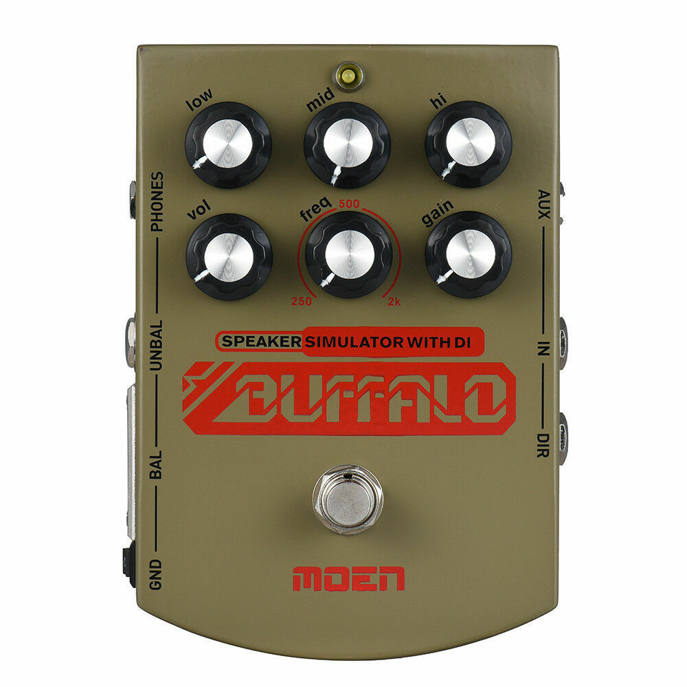 MOEN MO-BA BUFFALO V Electric Guitar Speaker Simulator Effect Pedal EqualizerNew