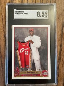 "2003-04 Topps #221 LeBron James RC Rookie Cavaliers PSA SGC 8.5 NR MT ""HOT CARD"""