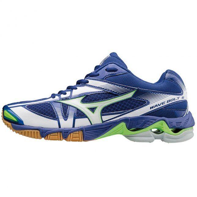 Mizuno WAVE BOLT 6 Blue White uomo Volleyball Shoes V1GA176073 Scarpe classiche da uomo