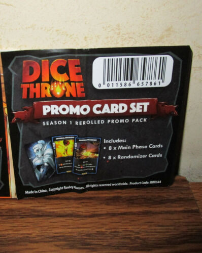 Season One Rerolled Promo Pack Roxley Dice Throne