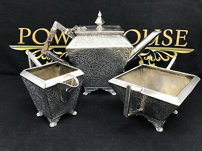Art Deco Batchelors Silver Plate Tea Set 1871 - 1883