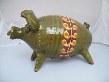 harry juniper piggy money bank rare vintage studio pottery Devon