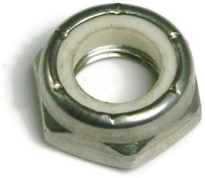 #8-32 Coarse Thread Nyloc Nylon Insert Locknut NTM Thin Zinc Plated