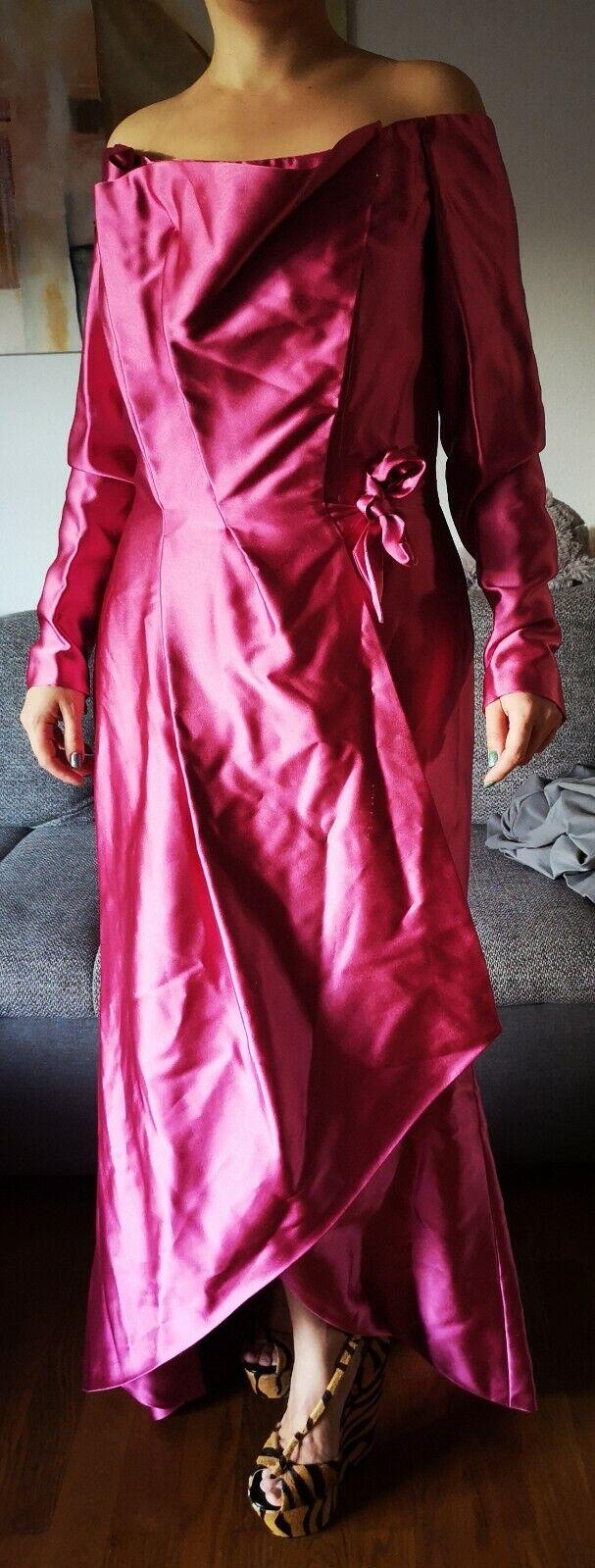 Abendkleid Haute Couture 38 Rosa Georg et Arend Designerkleid