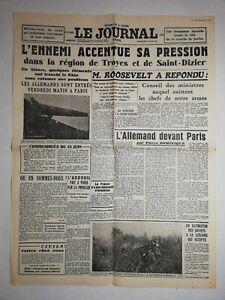 N1147-La-Une-Du-Journal-Le-journal-16-juin-1940-l-039-ennemi-accentue-sa-pression