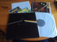 PINK FLOYD DARK SIDE OF THE MOON LP COMPLETE SET WITH TOTALLY DIFFERENT POSTER