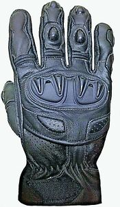 Summer Motorcycle Gloves Knuckle Protection Motorbike Perforated Leather Gloves Ebay