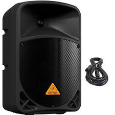Behringer B108D Active 2-Way Powered PA Speaker 300W Amplified w/ XLR Cables