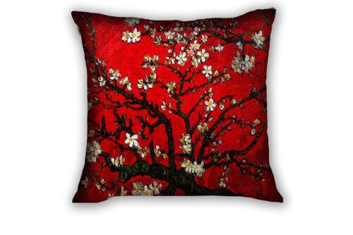 Van Gogh Red Flower Sofa Home Decorative Cushion Cover Throw Pillow Case Square