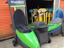 Closed Prontowash Mobile Car Wash Equipment Business with Carts and Signage WOW